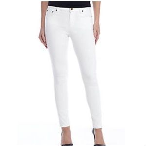MICHAEL Kors white ankle cropped skinny jeans
